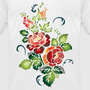 Flowers T-Shirts - Men's T-Shirt by American Apparel