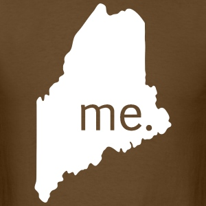 me home white on brown - Men's T-Shirt