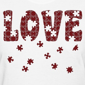 The Puzzle of Love Women's T-Shirts - Women's T-Shirt