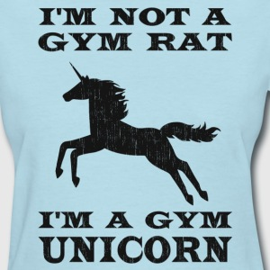 I'm Not A Gym Rat I'm A Gym Unicorn Women's T-Shirts - Women's T-Shirt