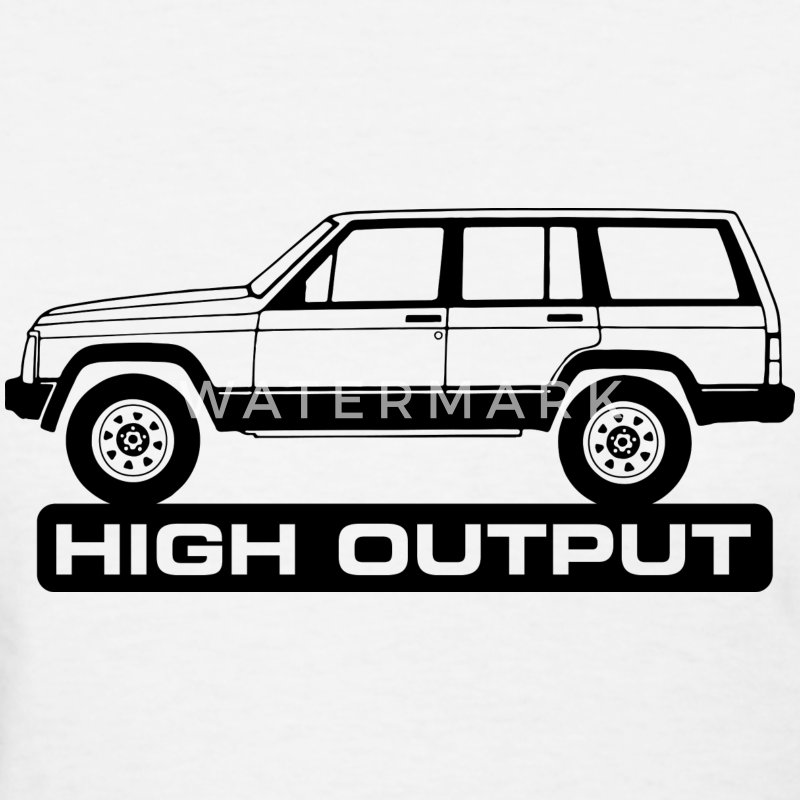 Jeep XJ High Output - Autonaut.com - Women's T-Shirt