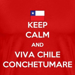 Keep calm and viva Chile T-Shirts - Men's Premium T-Shirt