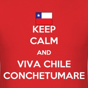 Keep calm and viva Chile T-Shirts - Men's T-Shirt