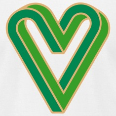 Forever Vegan, Green Heart, Optical Illusion, Knot T-Shirts