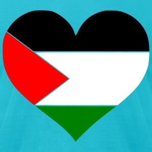 Palestine Heart T-Shirts - Men's T-Shirt by American Apparel