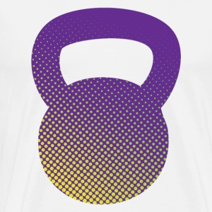 kettlebell Hexagons T-Shirts - Men's Premium T-Shirt