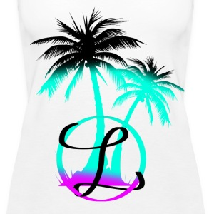 Palm trees & a nice breeze - Women's Premium Tank Top