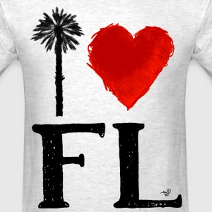I Heart Florida (remix) by Tai's Tees - Men's T-Shirt