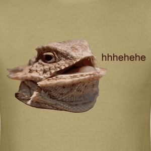 Laughing Iguana HeHe Lizard T-Shirts - Men's T-Shirt