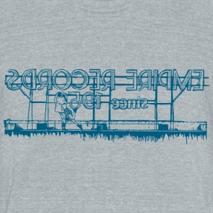 Empire Records Roof Blue T-Shirts - Unisex Tri-Blend T-Shirt by American Apparel