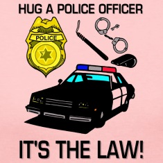 Hug A Police Officer Long Sleeve Shirts