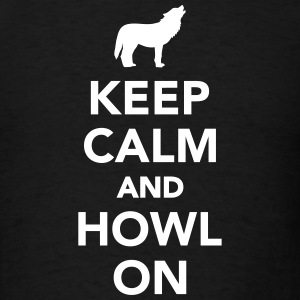 Keep calm and howl on T-Shirts - Men's T-Shirt