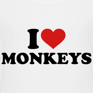 I love monkeys Kids' Shirts - Kids' Premium T-Shirt