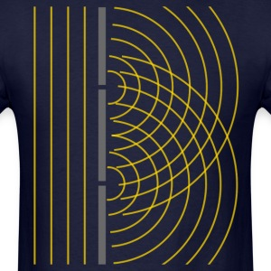 Double Slit Light Wave Particle Science Experiment T-Shirts - Men's T-Shirt