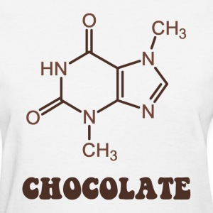 Scientific Chocolate Element Theobromine Molecule Women's T-Shirts - Women's T-Shirt
