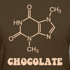 Scientific Chocolate Element Theobromine Molecule Women's T-Shirts