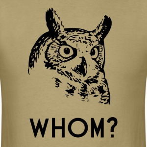 Hoo Who Whom Grammar Owl T-Shirts - Men's T-Shirt