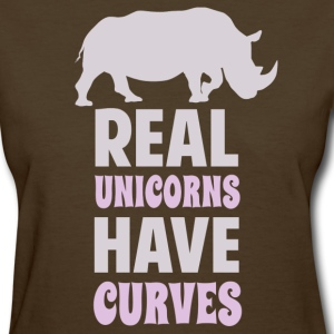 Real Unicorns Have Curves Women's T-Shirts - Women's T-Shirt