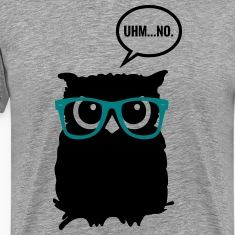Hipster Owl with Glasses T-Shirts