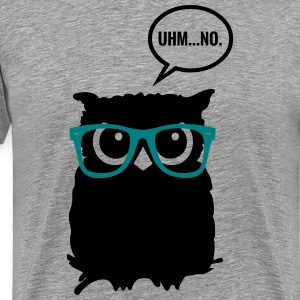 Hipster Owl with Glasses T-Shirts - Men's Premium T-Shirt