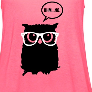 Hipster Owl with Glasses Tanks - Women's Flowy Tank Top by Bella