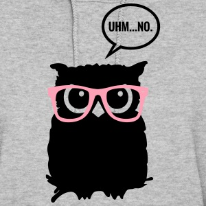 Hipster Owl with Glasses Hoodies - Women's Hoodie