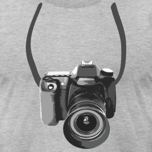 Photographer Camera Around The Neck T-shirts - T-shirt pour hommes American Apparel