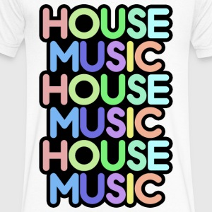 house music T-Shirts - Men's V-Neck T-Shirt by Canvas
