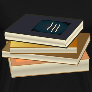 Stacked Books - Men's Premium T-Shirt