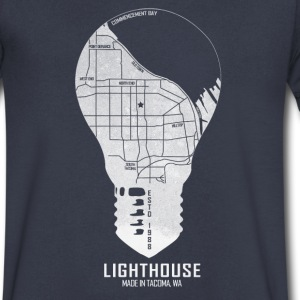 The Light of Tacoma T-Shirts - Men's V-Neck T-Shirt by Canvas