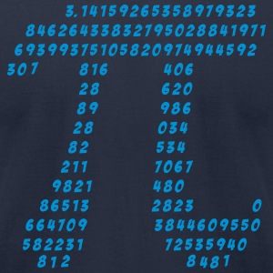 Pi, Math, Mathematic, Irrational Number, Science T - Men's T-Shirt by American Apparel