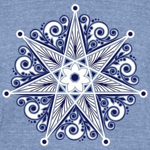 Elven Star, Heptagram, Perfection & Protection T-Shirts - Unisex Tri-Blend T-Shirt by American Apparel