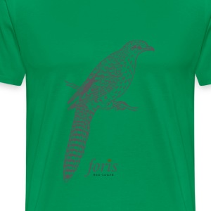 long tailed cuckoo T-Shirts - Men's Premium T-Shirt