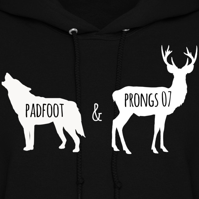 Women's Padfoot & Prongs Hoodie (White Logo)