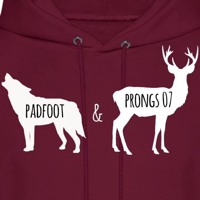 Men's Padfoot & Prongs Hoodie (White Logo)