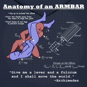 Anatomy of an Armbar 2 Hoodies - Men's Hoodie