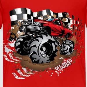 Mega Mud Truck Red Race Baby & Toddler Shirts - Toddler Premium T-Shirt