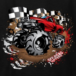 Mega Mud Truck Red Race Kids' Shirts - Kids' T-Shirt