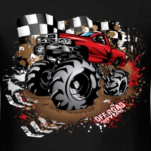 Mega Mud Truck Red Race T-Shirts - Men's T-Shirt