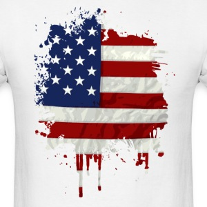 United States Flag Paint Splatter T-Shirts - Men's T-Shirt