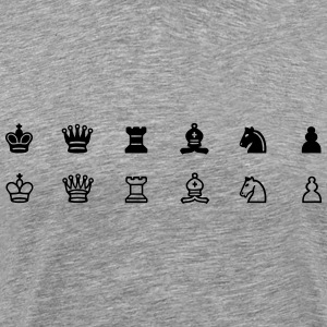Chess Set Symbols - Men's Premium T-Shirt