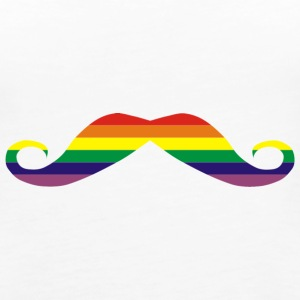 Rainbow moustache Tanks - Women's Premium Tank Top