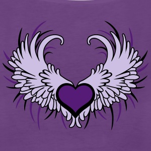 Angel Wings with Heart Tanks - Women's Premium Tank Top