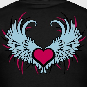 Angel Wings with Heart T-Shirts - Men's T-Shirt