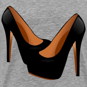 Black High Heels - Men's Premium T-Shirt