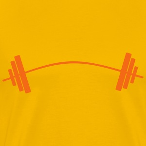Gym dumbbell weightlifting bar T-Shirts - Men's Premium T-Shirt