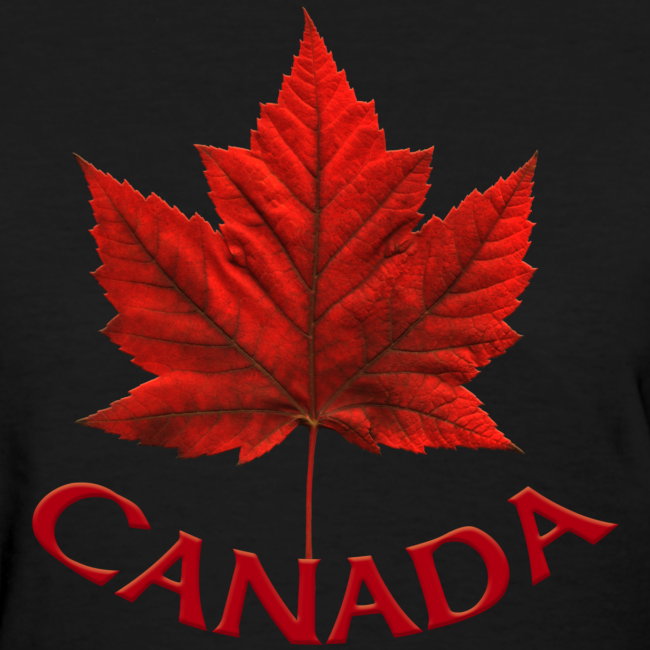 Women's Canada T-shirt Souvenir Canadian Maple Leaf Ladies Shirt