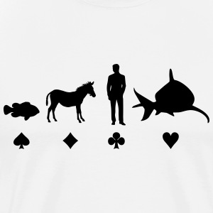 Evolution Poker T-Shirts - Men's Premium T-Shirt