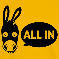Poker donkey - all in T-Shirts