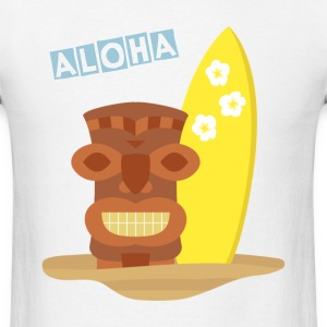 Hawaii tiki surfboard T-Shirts - Men's T-Shirt